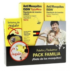 Isdin AntiMosquitos Pack Familia Repelete 100ml + Pediátrico 100ml