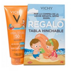 Comprar Vichy Ideal Soleil Infantil SPF50+ Leche 300ml + Regalo Tabla Hinchable