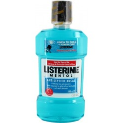 LISTERINE MENTOL ANTISEPTICO BUCAL 500ML