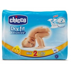 Comprar Chicco Pañales Dry Fit Mini Talla 2 3-6 kg 25uds