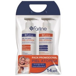 Farline Pack Piel atópica Gel 500ml + Loción 500ml