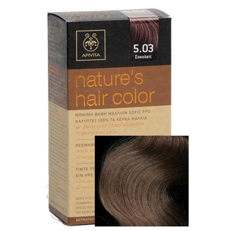 Apivita Tinte Nature's Hair Color 5.03 Chocolate