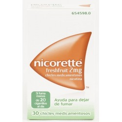 Comprar Nicorette Freshfruit 2mg 30 Chicles