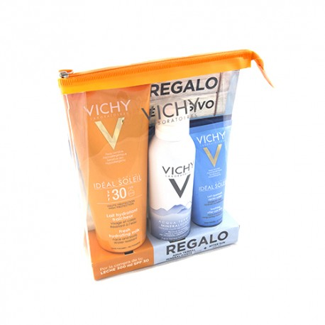 Vichy Ideal Soleil Leche SPF30 300ml + Agua Termal Mineralizante 150ml+ After sun 100ml