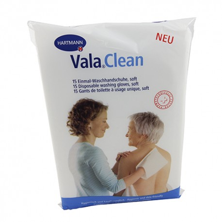 Valaclean Soft Manopla Desechable 15 Unidades