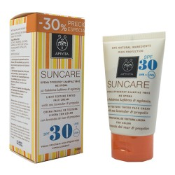 Apivita Suncare Crema Facial Antimanchas Color SPF30