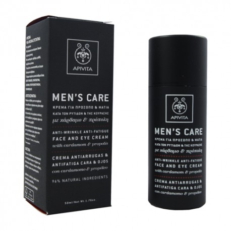 Apivita Men's Care Crema Antiarrugas Cara y Ojos 50ml