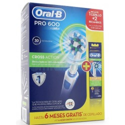 Comprar Pack Cepillo Oral B Cross Action PRO600 + 2 Recambios