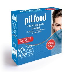 Comprar Pilfood Pack Intensity Hombre 15 Ampollas + 60 Comprimidos + Champú 200ml