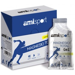 Amlsport Magnesio Total Gel Sabor Limón 12 x 20ml