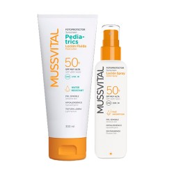 Mussvital Pack Familiar Fotoprotector Pediatrics Loción SPF 50+ 300ml + Loción Spray SPF 50+ 200ml