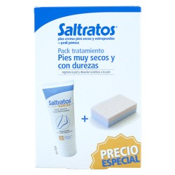 Comprar Saltratos Pack Pies Secos Crema 100ml + Pedi Pómez