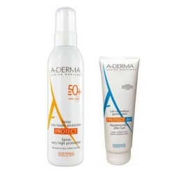 Comprar Pack Aderma Protect Adultos Spray SPF 50+ 200ml + Leche reparadora 100ml