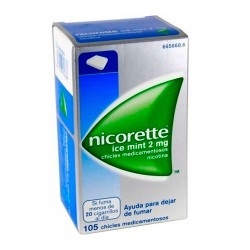 Comprar Nicorette Ice Mint 2mg 105 Chicles