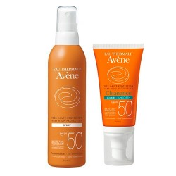 Comprar Pack Avene Solar Spray SPF 50+ 200ml + Solar Facial Cleanance SPF 50+ 50 ml