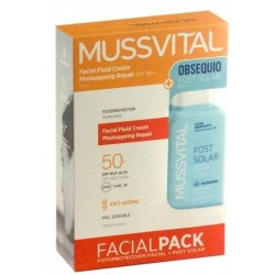 Mussvital Fotoprotector Facial Fluido Crema Anti Edad SPF 50+ 50ml + After Sun Regalo 100ml