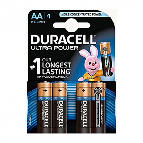 Duracell Ultra Power AA 1.5v 4 unidades