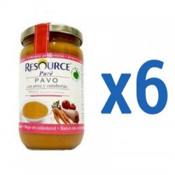 Resource Puré Pavo con Arroz y Zanahorias 6x300g
