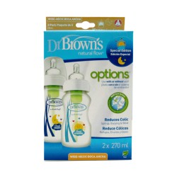 Dr Brown's Pack Biberones Options Boca Ancha 2x270ml