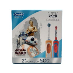 Oral B Pack Familiar Vitality Cross Action + Stages Star Wars