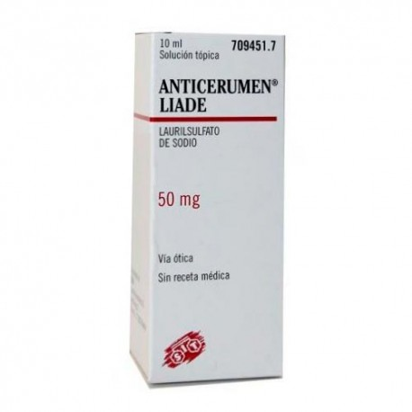 Anticerumen Liade 50mg/ml Gotas Óticas Solución 10ml