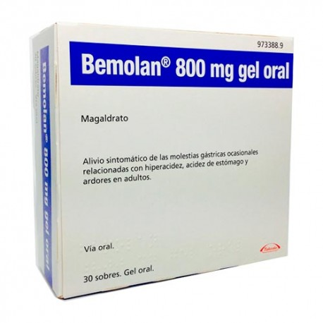 Bemolan 800mg 30 Sobres Gel Oral