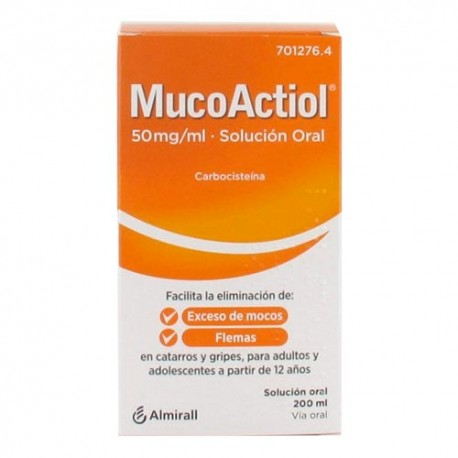 MucoActiol 50mg/ml Solución Oral 200ml