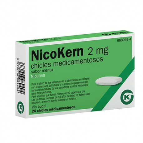 Nicokern 2mg 24 Chicles Sabor Menta
