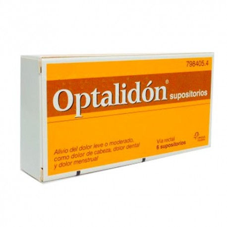 Optalidon 500/75mg 6 Supositorios