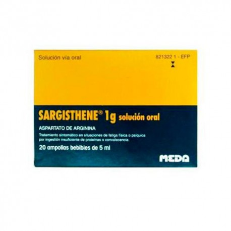 Sargisthene 1g 20 Ampollas Bebibles 5ml