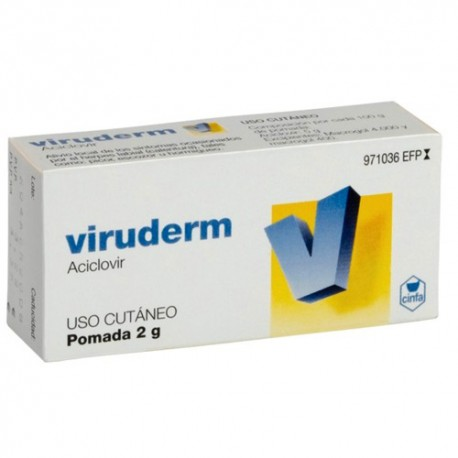 Viruderm 50mg/g Pomada 2g