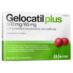 Comprar Gelocatil Plus 500mg/65mg Comprimidos Recubiertos