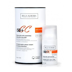 Bella Aurora Crema Color Anti-Manchas SPF50+ Piel Sensible 30ml.