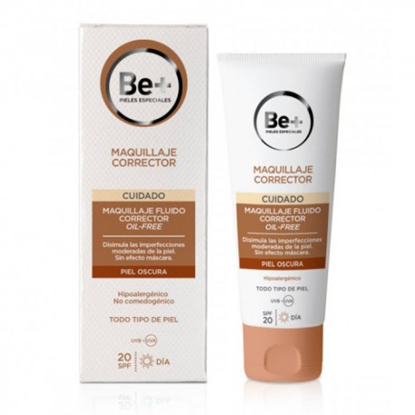 Be+ Maquillaje Fluido Corrector SPF20 Piel Oscura 40ml