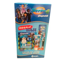 Kin Pack Super 4 Playmobil Pasta Dentífrica 75ml + Cepillo + Figura
