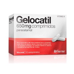 Comprar Gelocatil 650 mg 12 Comprimidos