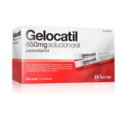 Comprar Gelocatil 650 mg 12 Sobres
