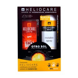 Comprar Heliocare 360º Pack Gel SPF90 50ml + Invisible Spray 200ml