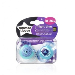 Comprar Tommee Tippee 2 Chupetes Night 18-36m