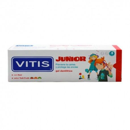 Vitis Junior Gel Dental Tutti Frutti 75 Ml.