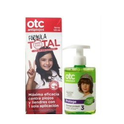 OTC Antipiojos Pack Spray Formula Total 125ml + Champu 300ml.