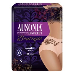 Ausonia Discreet Boutique Plus Talla Mediana 9 Unidades