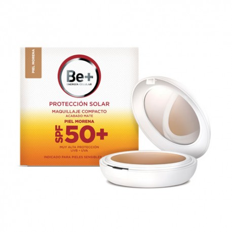 Be+ Maquillaje Compacto Mate Piel Oscura SPF50+ 10g