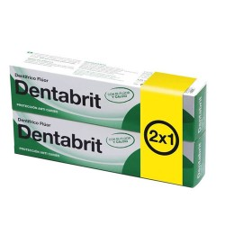 DENTABRIT PASTA DENTAL FLUOR 75ML. 2X1