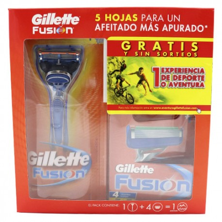 Gillette Fusion Pack Experience maquina + 4 recambios