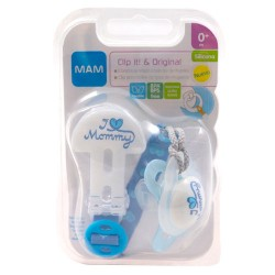 Mam Chupete Original Silicona +0m + Clip It.