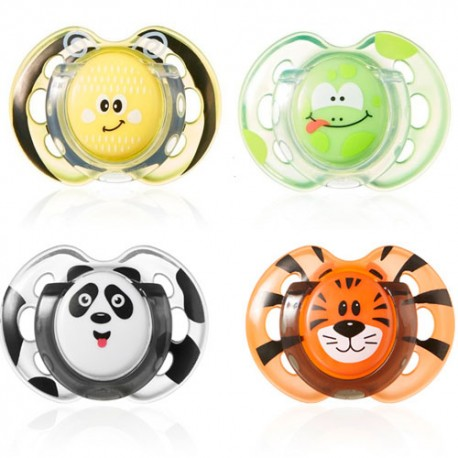 TOMMEE TIPPEE 2 CHUPETES FUN STYLE 0-6M