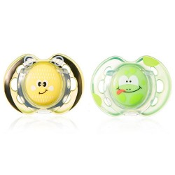 Comprar Tommee Tippee 2 Chupetes Fun Style 0-6m