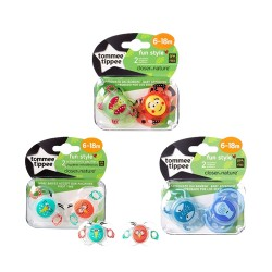 Comprar Tommee Tippee 2 Chupetes Fun Style 6-18m