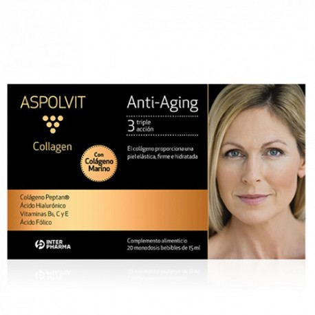 Aspolvit Anti-Aging Collagen 20 Ampollas.